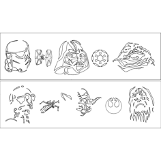 star wars 1 2 Free Dxf File for CNC