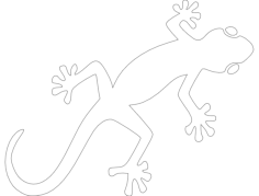 gecko Free Dxf File for CNC