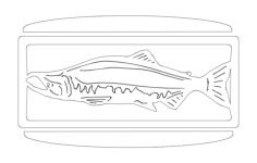 27 inch salmonw.slots sconce Free Dxf File for CNC