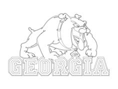 georgia bulldogs logo Free Dxf File for CNC