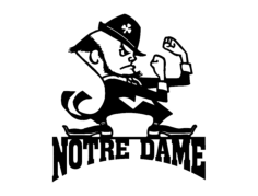 notre dame with man Free Dxf File for CNC