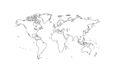 world map Free Dxf File for CNC