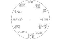 clock math Free Dxf File for CNC