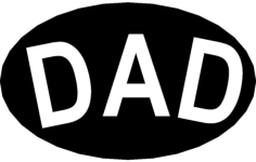 dad Free Dxf File for CNC