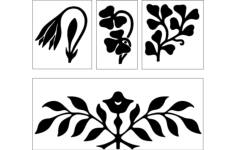 flower design Free Dxf File for CNC
