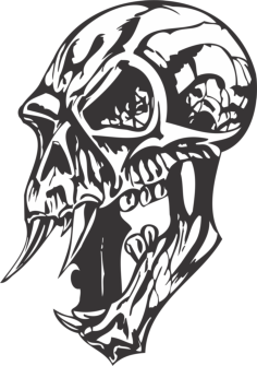 skulls cut file Free Dxf File for CNC