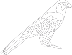 bird sitting 2 Free Dxf File for CNC