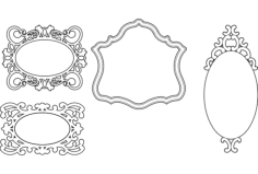 mirror frames simple designs Free Dxf File for CNC