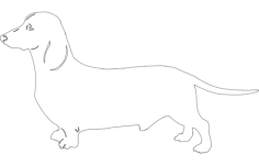 dog dachound Free Dxf File for CNC