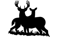 buck doe Free Dxf File for CNC