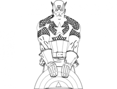 capt america Free Dxf File for CNC