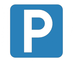 parking place road sign Free Dxf File for CNC