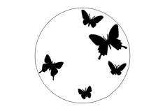 butterfly clock Free Dxf File for CNC