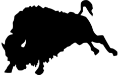 bull silhouette Free Dxf File for CNC