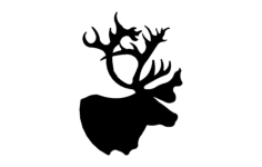 deer head Free Dxf File for CNC