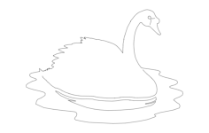 swan on water Free Dxf File for CNC
