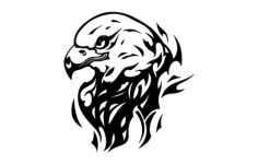 eagle flame Free Dxf File for CNC