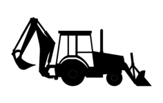 backhoe Free Dxf File for CNC