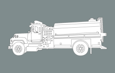 fire truck Free Dxf File for CNC