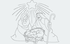 xmas nativity Free Dxf File for CNC