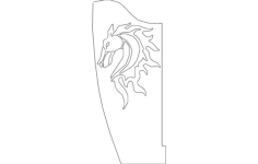 horse bracket flipped single Free Dxf File for CNC