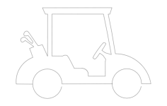 golf-cart Free Dxf File for CNC