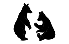 bears 2 Free Dxf File for CNC