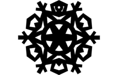 design snowflake 8 Free Dxf File for CNC
