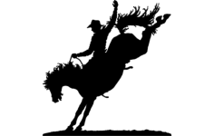 bucking horse Free Dxf File for CNC