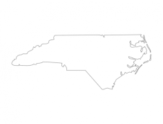 map of north carolina Free Dxf File for CNC