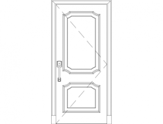 solid wood door Free Dxf File for CNC
