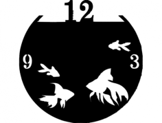 acquario clock Free Dxf File for CNC