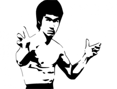 bruce lee 4 Free Dxf File for CNC