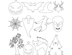 halloween cut file set Free Dxf File for CNC