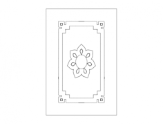 doors plan Free Dxf File for CNC