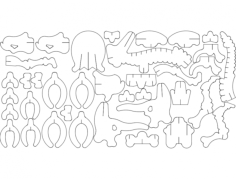 newtri 3d puzzle Free Dxf File for CNC