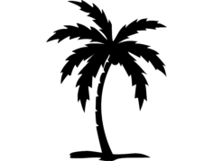 palm tree Free Dxf File for CNC