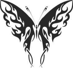 tribal butterfly vector art 41 Free Dxf File for CNC