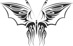 tribal butterfly vector art 12 Free Dxf File for CNC