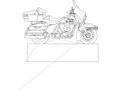 harley davidson bike Free Dxf File for CNC