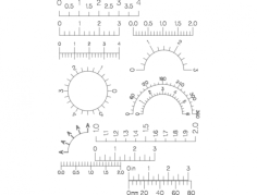 dial scale Free Dxf File for CNC