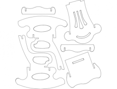 rocking chair s6 Free Dxf File for CNC