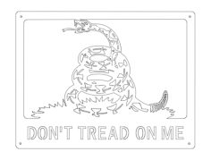 don't tread on me Free Dxf File for CNC