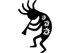 kokopelli 3 Free Dxf File for CNC