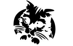 kitty cat Free Dxf File for CNC