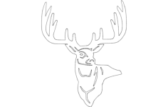 3 point buck Free Dxf File for CNC