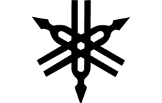 yamaha logo vector Free Dxf File for CNC