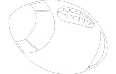 american football ball Free Dxf File for CNC