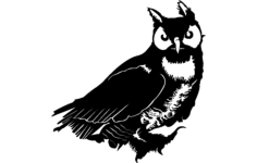 owl vector Free Dxf File for CNC