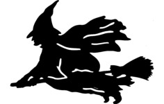witch silhouette Free Dxf File for CNC